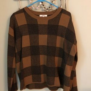 Madewell Plaid Sweater